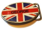 Personalised Union Jack Belt Buckle. Code A0091
